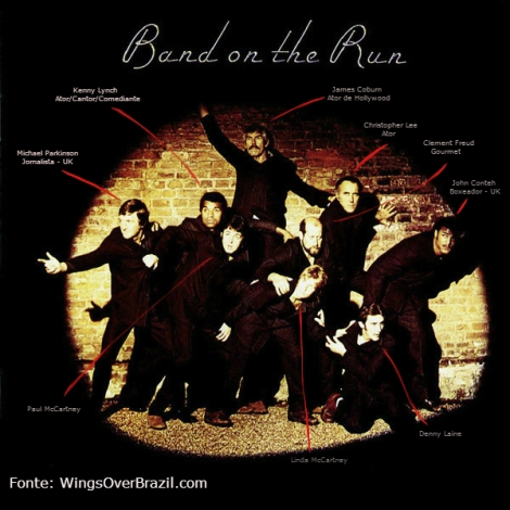 "Capa de ""Band On The Run"""